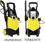 pressure washer on white... | Shutterstock . vector #705822475