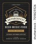 oktoberfest beer festival... | Shutterstock .eps vector #705825526