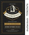 oktoberfest beer festival... | Shutterstock .eps vector #705825676