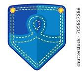 classy jeans pocket icon. flat... | Shutterstock .eps vector #705827386