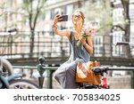 Young Woman Making Selfie Photo ...