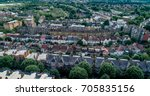 aerial view of a typical... | Shutterstock . vector #705835156