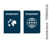 passport | Shutterstock .eps vector #705840226