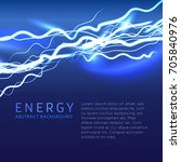electric effect with lightning... | Shutterstock .eps vector #705840976