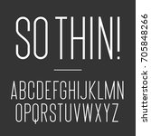 thin font. vector alphabet set. ... | Shutterstock .eps vector #705848266