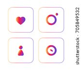 set of vector icons for website  | Shutterstock .eps vector #705849532