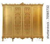 Golden Classic Locker. Isolate...