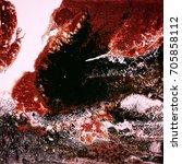 liquid acrylic paint  liquid...   Shutterstock . vector #705858112