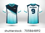 blue and white layout football... | Shutterstock .eps vector #705864892