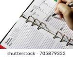 planner journal scheduler and a ... | Shutterstock . vector #705879322