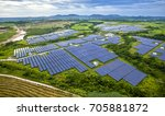 aerial photography green solar... | Shutterstock . vector #705881872