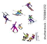 vector illustration of alpine... | Shutterstock .eps vector #705884152