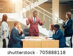 handsome african businessman... | Shutterstock . vector #705888118