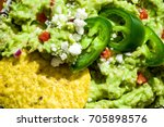 close up of sliced jalapenos... | Shutterstock . vector #705898576