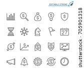 business line icons. editable... | Shutterstock .eps vector #705901318