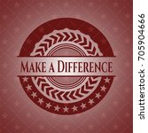 make a difference retro red...   Shutterstock .eps vector #705904666