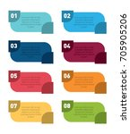 colorful infographic design... | Shutterstock .eps vector #705905206