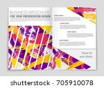 abstract vector layout... | Shutterstock .eps vector #705910078