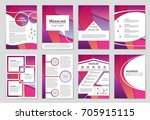 abstract vector layout... | Shutterstock .eps vector #705915115