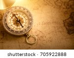 Old Vintage Compass With...