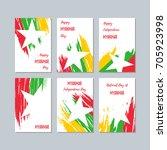 myanmar patriotic cards for... | Shutterstock .eps vector #705923998