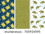 Stock vector turtle pattern seamless vector pattern set cute funny turtles colorful backgrounds 705924595