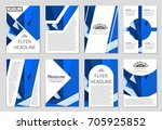 abstract vector layout... | Shutterstock .eps vector #705925852
