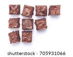 homemade chocolate brownies... | Shutterstock . vector #705931066