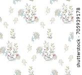 seamless pattern flower spring... | Shutterstock .eps vector #705939178