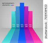 modern business steps to... | Shutterstock .eps vector #705939922
