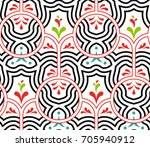 seamless pattern with lines ... | Shutterstock .eps vector #705940912