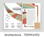 abstract vector layout... | Shutterstock .eps vector #705941452