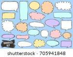 speech bubble doodles set.... | Shutterstock .eps vector #705941848