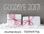two gifts with snow  text...   Shutterstock . vector #705949756