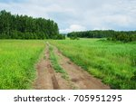 road in field at summer day.... | Shutterstock . vector #705951295