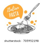 hand drawn vector illustrations.... | Shutterstock .eps vector #705952198