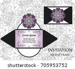 vector wedding invitation or... | Shutterstock .eps vector #705953752