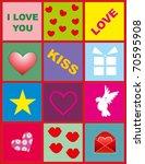 vector illustration. love... | Shutterstock .eps vector #70595908