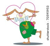 rabbit and heart | Shutterstock .eps vector #70595953