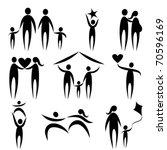 family symbols   Shutterstock .eps vector #70596169