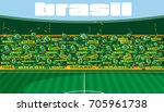 soccer stadium | Shutterstock .eps vector #705961738