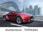 car moving on the urban road.... | Shutterstock . vector #70596364
