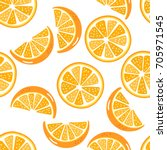 orange sliced pattern | Shutterstock .eps vector #705971545