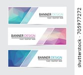 a set of vector banners design | Shutterstock .eps vector #705977272