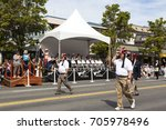 Small photo of Victoria Canada May 22,2017: The local Chapter of Shriners marching in Victoria Day Parade. This is Victoria's largest parade and attracting well over 100,000 people from Canada and USA..