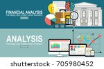 analytics information and... | Shutterstock .eps vector #705980452