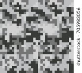 camouflage military pattern for ... | Shutterstock .eps vector #705983056