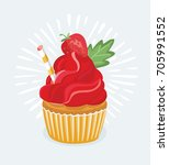 vector illustration of sweet... | Shutterstock .eps vector #705991552