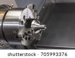 close up spindle chuck and...   Shutterstock . vector #705993376