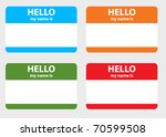 hello my name card | Shutterstock .eps vector #70599508